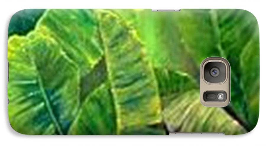 Galaxy S7 Case featuring the painting Banana Leaves by Carol P Kingsley
