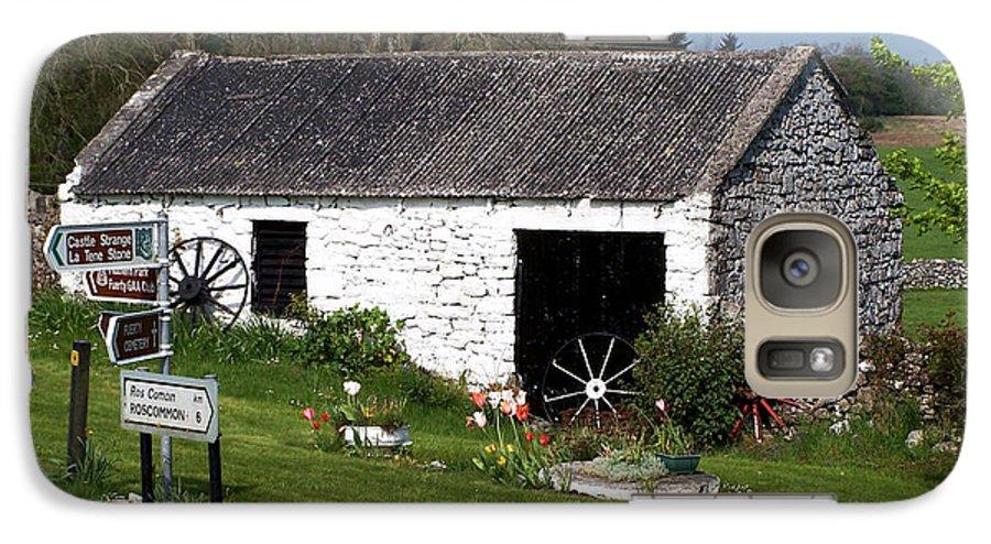 Ireland Galaxy S7 Case featuring the photograph Barn At Fuerty Church Roscommon Ireland by Teresa Mucha
