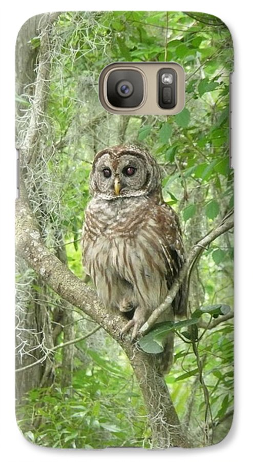 Nature Galaxy S7 Case featuring the photograph Barred Owl I by Kathy Schumann