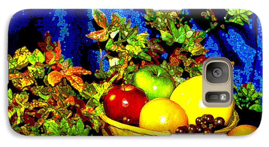 Fruit Galaxy S7 Case featuring the photograph Basket With Fruit by Nancy Mueller
