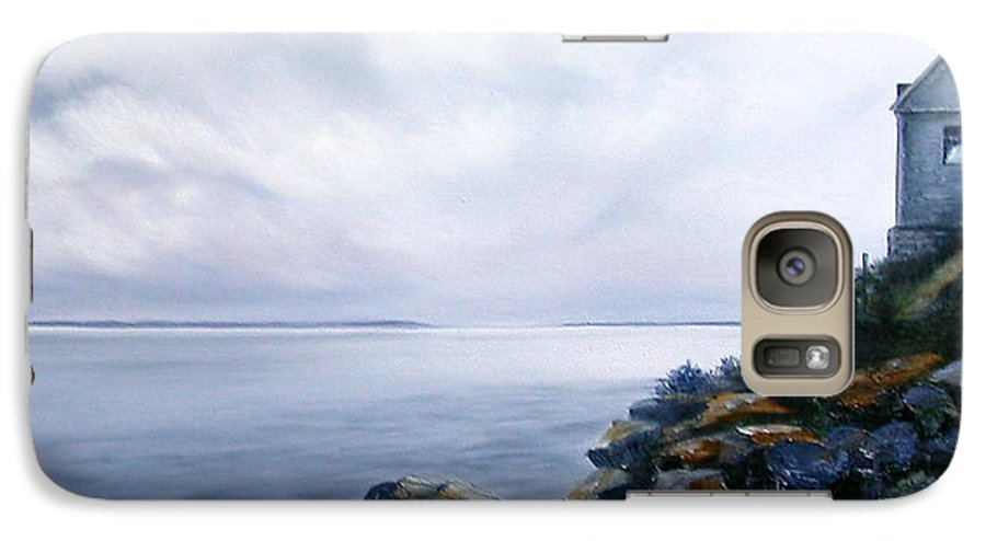Ocean Galaxy S7 Case featuring the painting Bass Harbor Maine by Brenda Ellis Sauro
