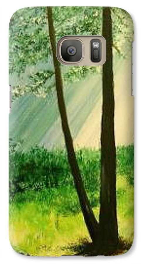 Light Galaxy S7 Case featuring the painting Bathed In Light by Lizzy Forrester