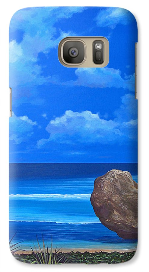 Barbados Galaxy S7 Case featuring the painting Bathsheba by Hunter Jay
