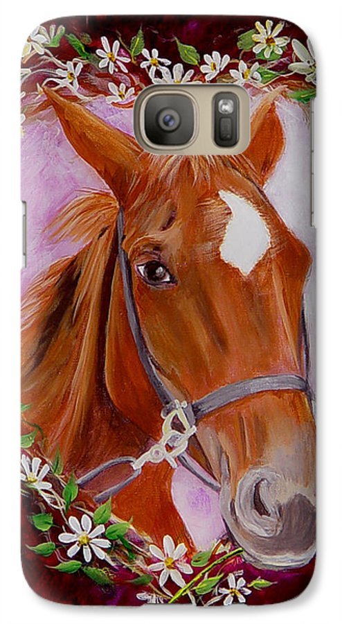 Horse Galaxy S7 Case featuring the painting Batuque by Quwatha Valentine
