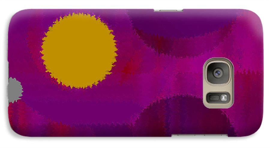 Abstract Galaxy S7 Case featuring the digital art Be Happy by Ruth Palmer