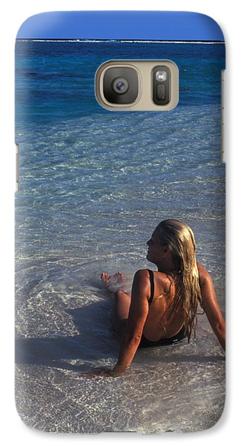 Beautiful Galaxy S7 Case featuring the photograph Beach At Little Cayman by Carl Purcell