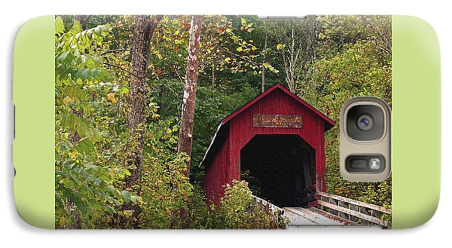 Covered Bridge Galaxy S7 Case featuring the photograph Bean Blossom Bridge I by Margie Wildblood