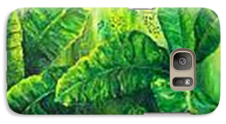 Galaxy S7 Case featuring the painting Beautiful Banana Leaves by Carol P Kingsley