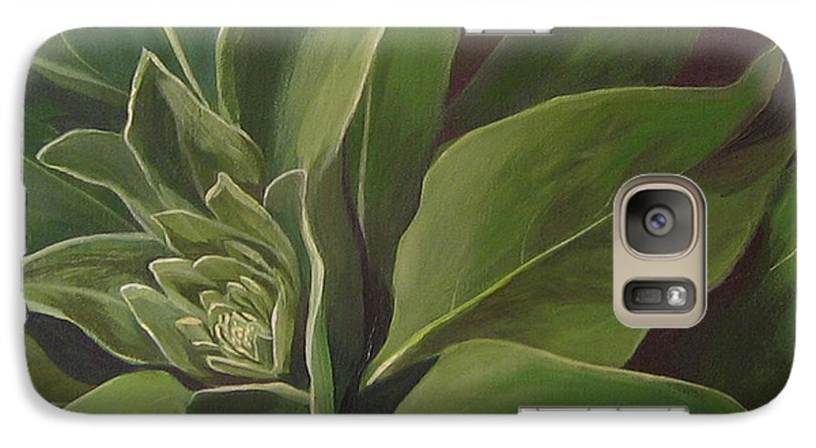 Closeup Of Mullein Plant Galaxy S7 Case featuring the painting Beautiful Stranger by Hunter Jay