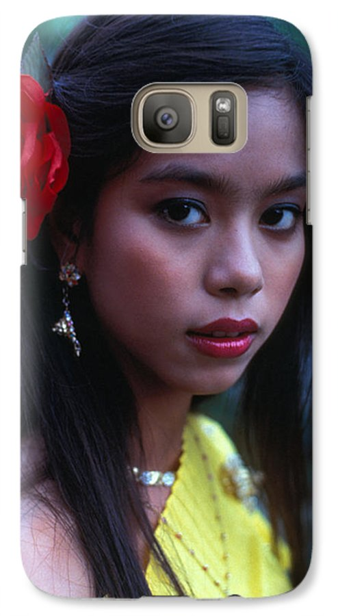 Girl Galaxy S7 Case featuring the photograph Beautiful Thai Girl by Carl Purcell