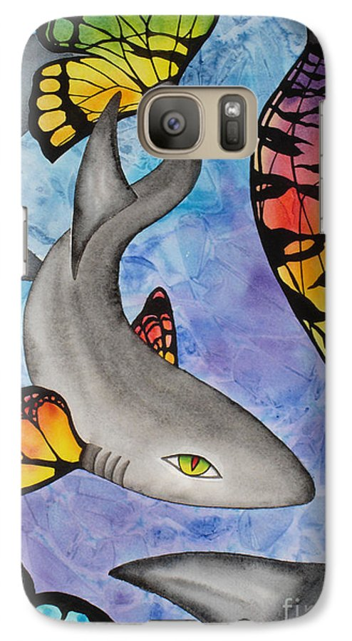 Surreal Galaxy S7 Case featuring the painting Beauty In The Beasts by Lucy Arnold