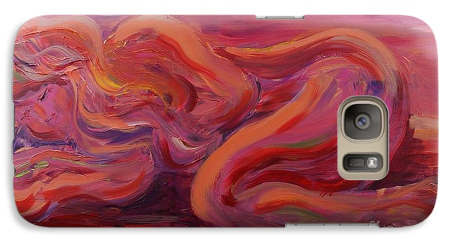 Nude Galaxy S7 Case featuring the painting Beauty by Nadine Rippelmeyer