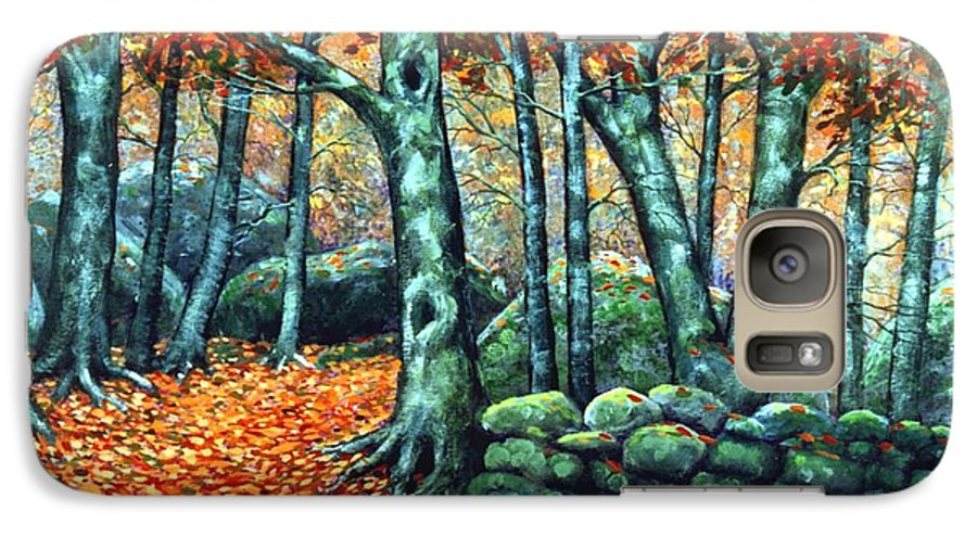 Landscape Galaxy S7 Case featuring the painting Beech Woods by Frank Wilson