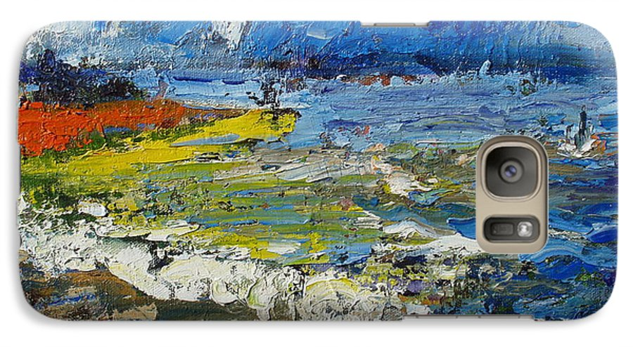 Beach Paintings Galaxy S7 Case featuring the painting Before Storm by Seon-Jeong Kim