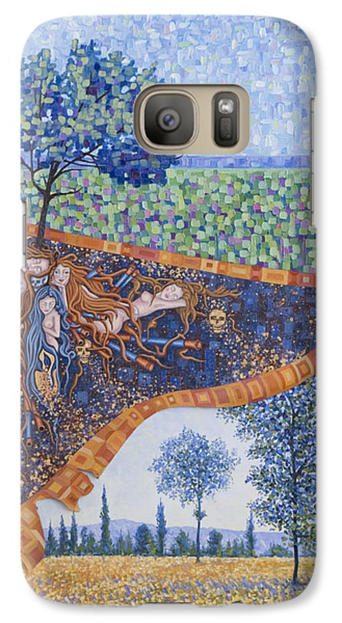 Canvas Galaxy S7 Case featuring the painting Behind The Canvas by Judy Henninger