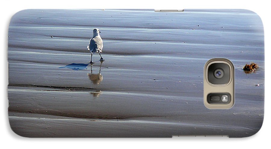 Nature Galaxy S7 Case featuring the photograph Being One With The Gulf - Escaping by Lucyna A M Green