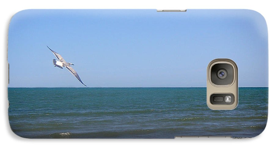 Nature Galaxy S7 Case featuring the photograph Being One With The Gulf - Soaring by Lucyna A M Green