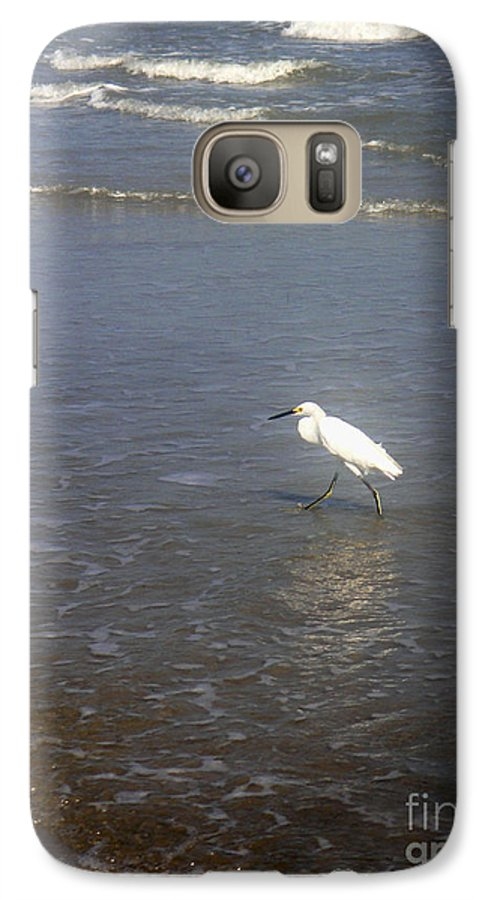 Nature Galaxy S7 Case featuring the photograph Being One With The Gulf - Wary by Lucyna A M Green
