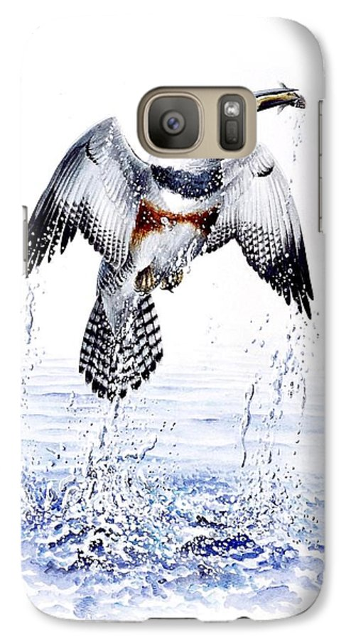 Chris Cox Galaxy S7 Case featuring the painting Belted Kingfisher by Christopher Cox