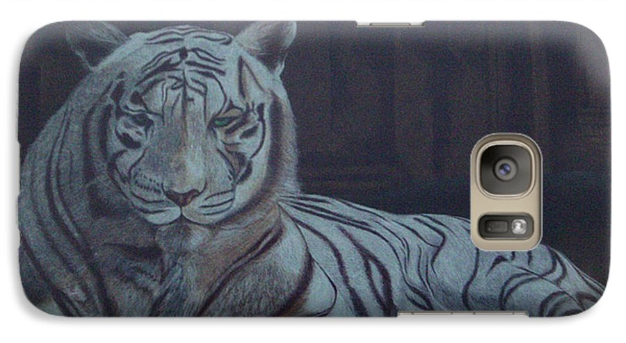 Wild Live Galaxy S7 Case featuring the painting Bengala Tiger by Fanny Diaz