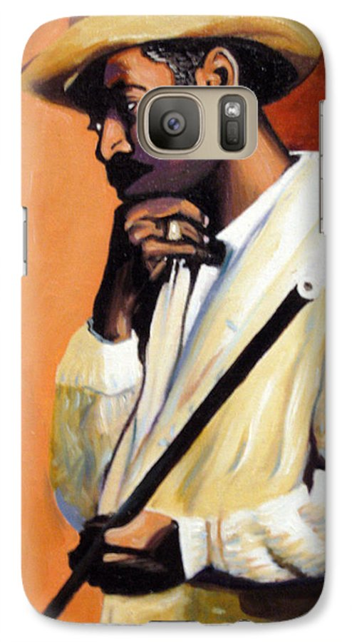 Cuban Art Galaxy S7 Case featuring the painting Benny 2 by Jose Manuel Abraham