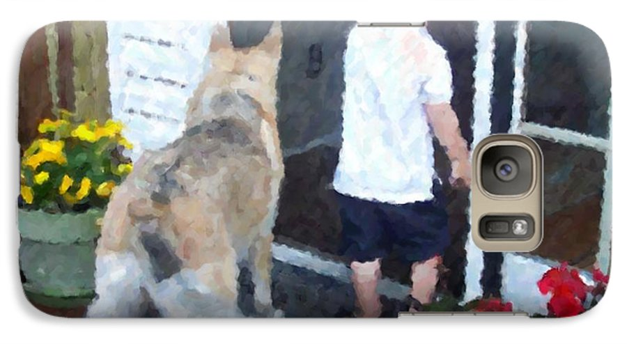 Dogs Galaxy S7 Case featuring the photograph Best Friends by Debbi Granruth