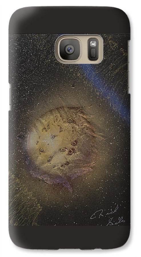 Glass Galaxy S7 Case featuring the painting Beyond by Rick Silas