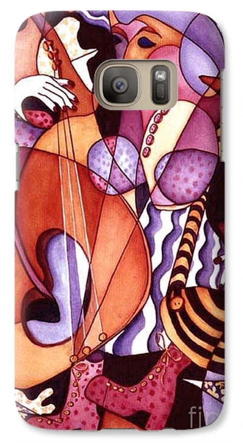Whimsical Galaxy S7 Case featuring the painting Big Bertha by Arleen Barton