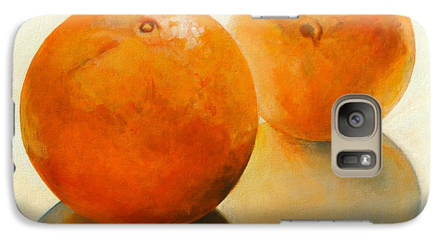 Still Life Galaxy S7 Case featuring the painting Billes Oranges by Muriel Dolemieux