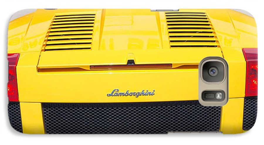 Wheels Galaxy S7 Case featuring the photograph Bill's Lambo by Margaret Fortunato