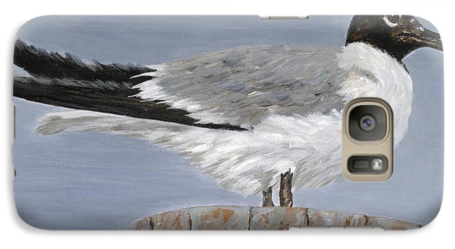 Seagull Galaxy S7 Case featuring the painting Bimini Gull by Danielle Perry