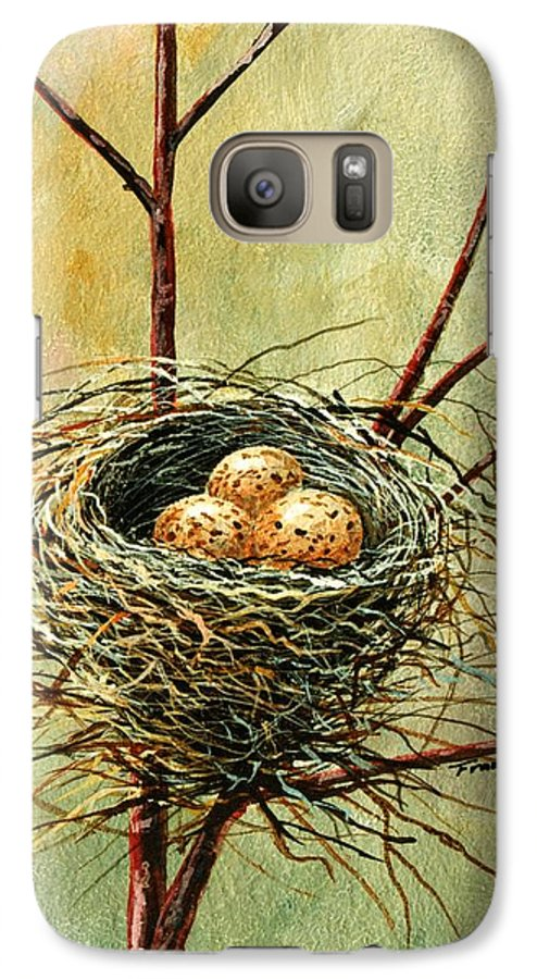 Still Life Galaxy S7 Case featuring the painting Bird Nest by Frank Wilson
