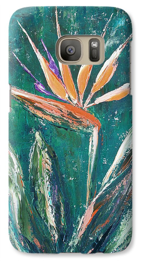 Bird Of Paradise Galaxy S7 Case featuring the painting Bird Of Paradise by Gina De Gorna