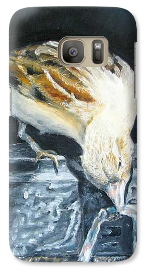 Oil Painting On Canvas Galaxy S7 Case featuring the painting Bird Original Oil Painting by Natalja Picugina