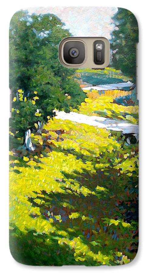 Landscape Galaxy S7 Case featuring the painting Birds Eye View by Kevin Lawrence Leveque