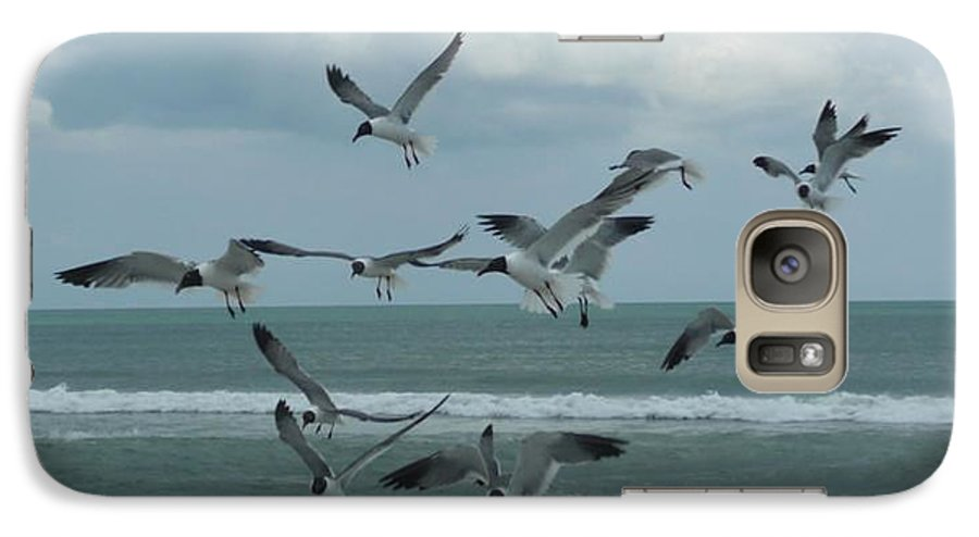 Birds Galaxy S7 Case featuring the photograph Birds In Flight by Barb Montanye Meseroll