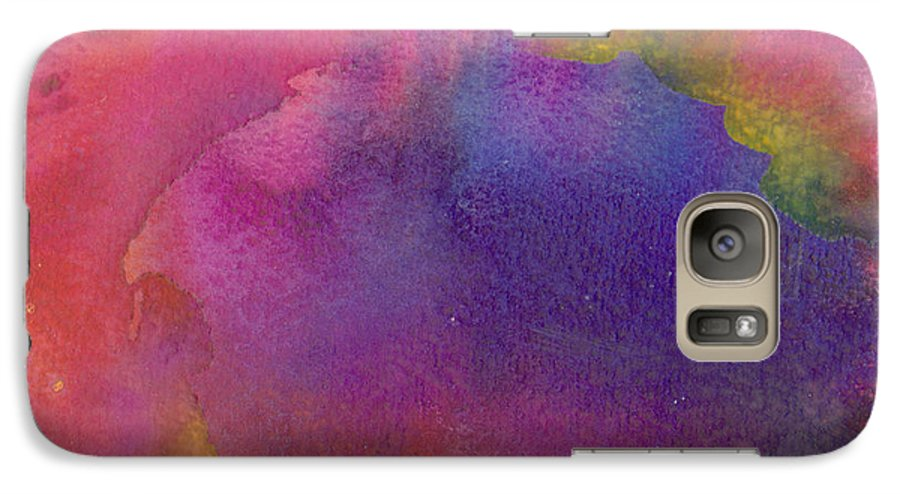 Red Galaxy S7 Case featuring the painting Birth by Christina Rahm Galanis