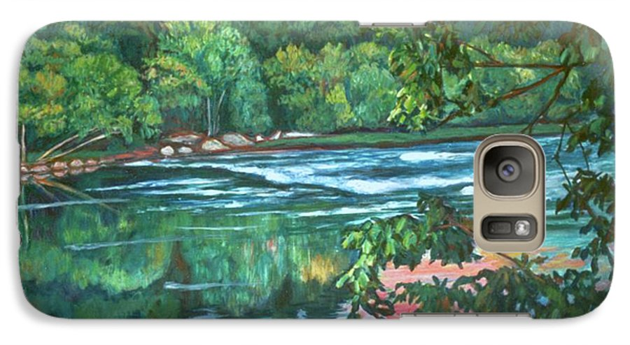 River Galaxy S7 Case featuring the painting Bisset Park Rapids by Kendall Kessler