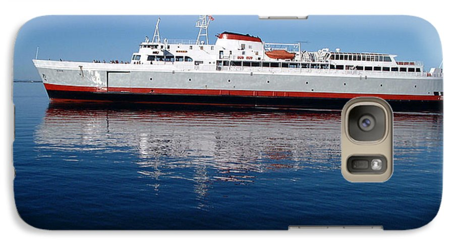 Boat Galaxy S7 Case featuring the photograph Black Ball Ferry by Larry Keahey
