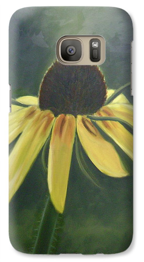 Flower Galaxy S7 Case featuring the painting Black Eyed Susan by Toni Berry