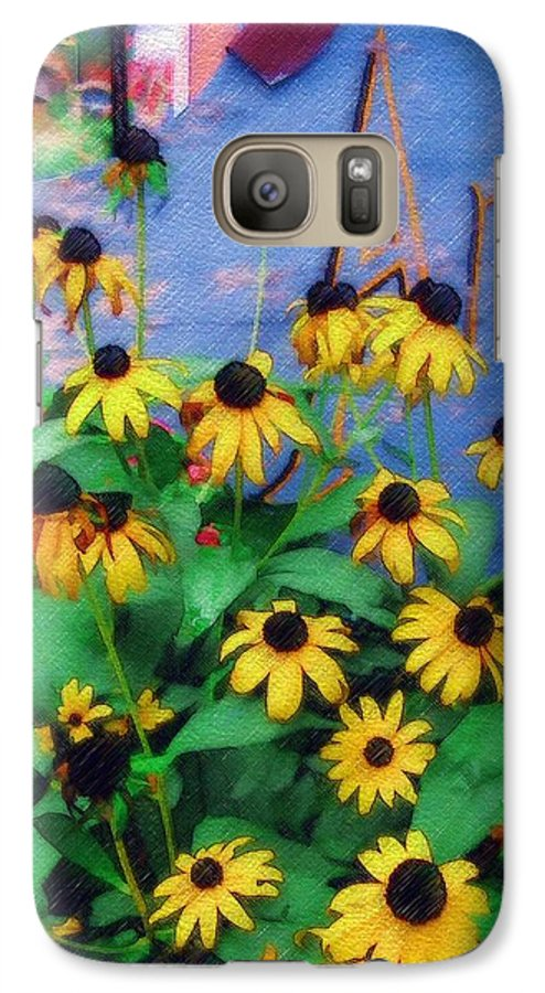Flowers Galaxy S7 Case featuring the photograph Black-eyed Susans At The Bag Factory by Sandy MacGowan