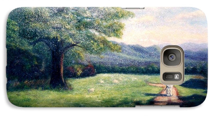 Christian Galaxy S7 Case featuring the painting Black Sheep by Gail Kirtz
