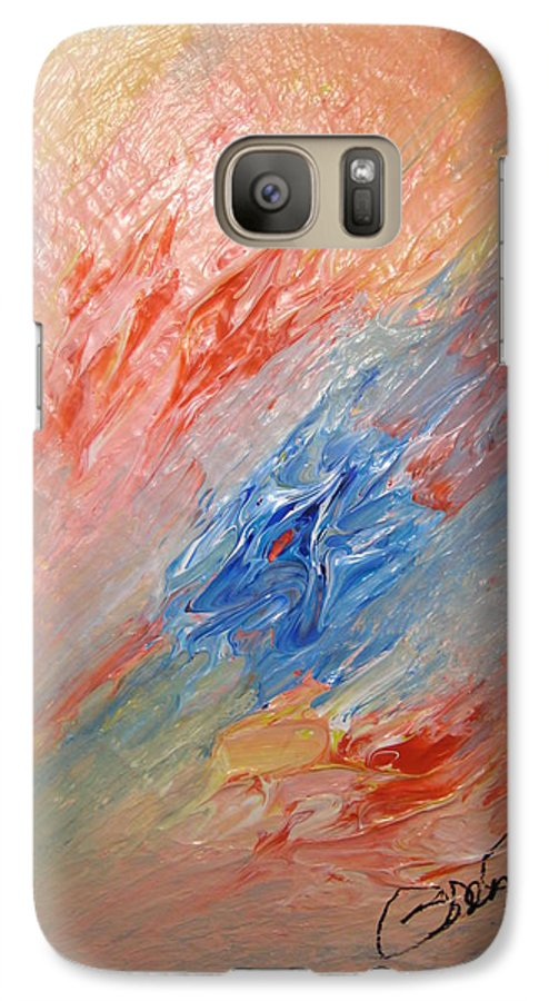 Abstract Galaxy S7 Case featuring the painting Bliss - B by Brenda Basham Dothage