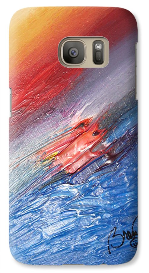 Abstract Galaxy S7 Case featuring the painting Bliss - D by Brenda Basham Dothage