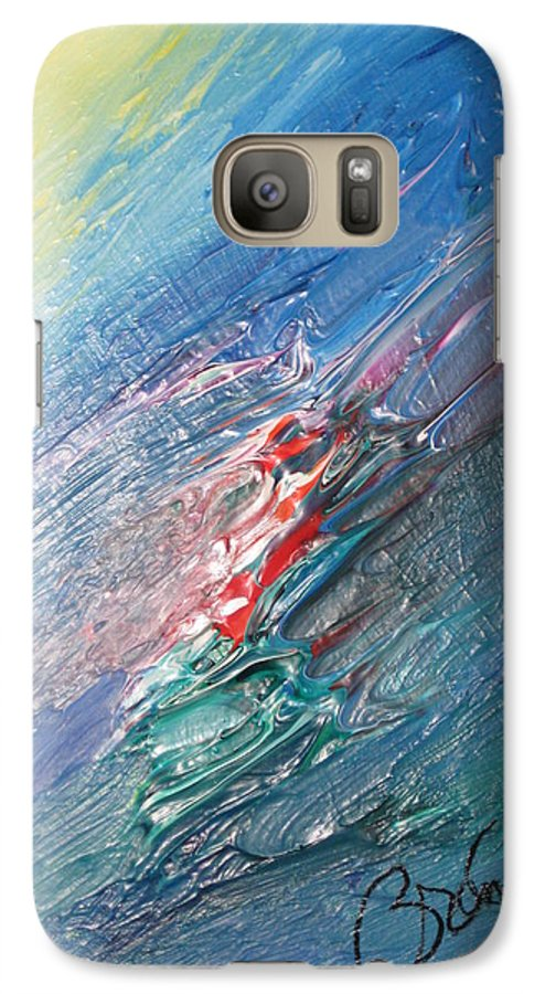 Abstract Galaxy S7 Case featuring the painting Bliss - F by Brenda Basham Dothage