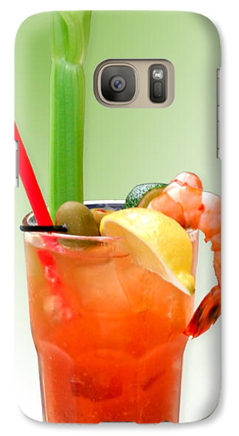 Drinks Galaxy S7 Case featuring the photograph Bloody Mary Hand-crafted by Christine Till
