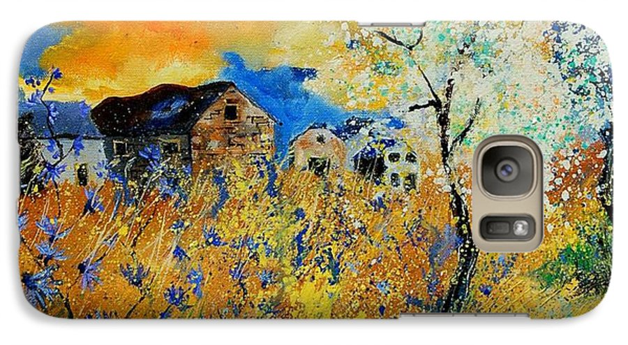 Poppies Galaxy S7 Case featuring the painting Blooming Trees by Pol Ledent