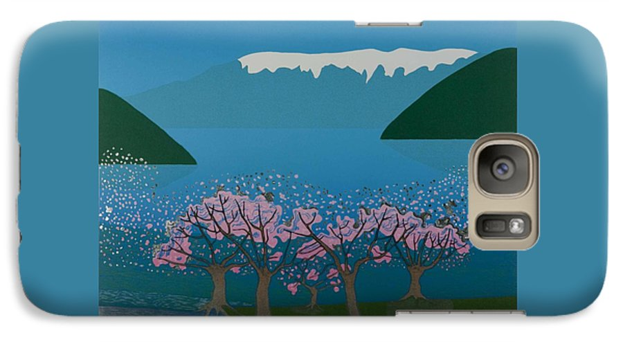 Landscape Galaxy S7 Case featuring the mixed media Blossom In The Hardanger Fjord by Jarle Rosseland