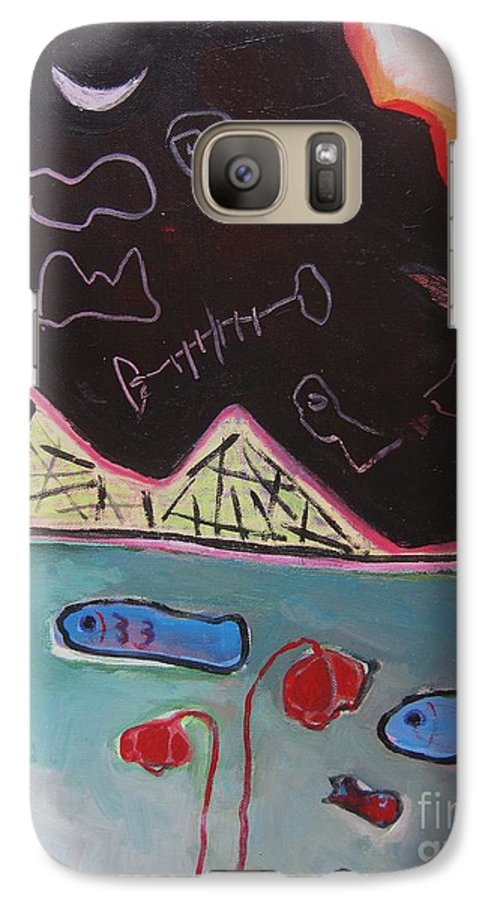 Blow Me Down Painting Galaxy S7 Case featuring the painting Blow Me Down11 by Seon-Jeong Kim