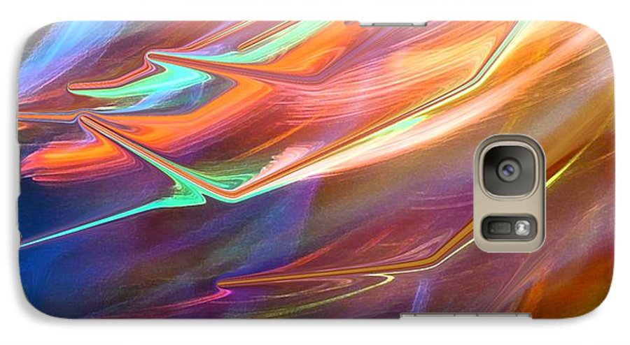 Abstract Galaxy S7 Case featuring the photograph Blown Away by Florene Welebny
